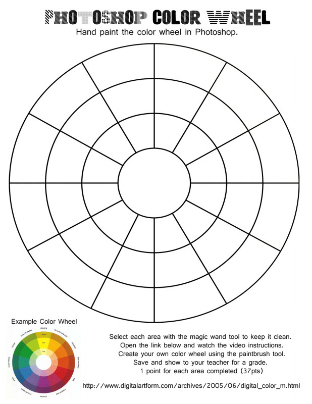 Blank Color Wheel Template Awesome Color Wheel Worksheet