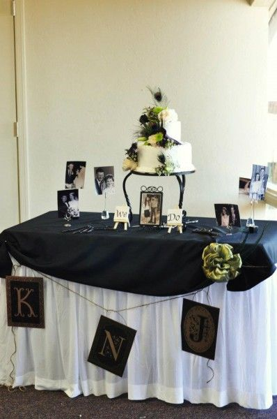 Wedding Reception Cake Table Decorating