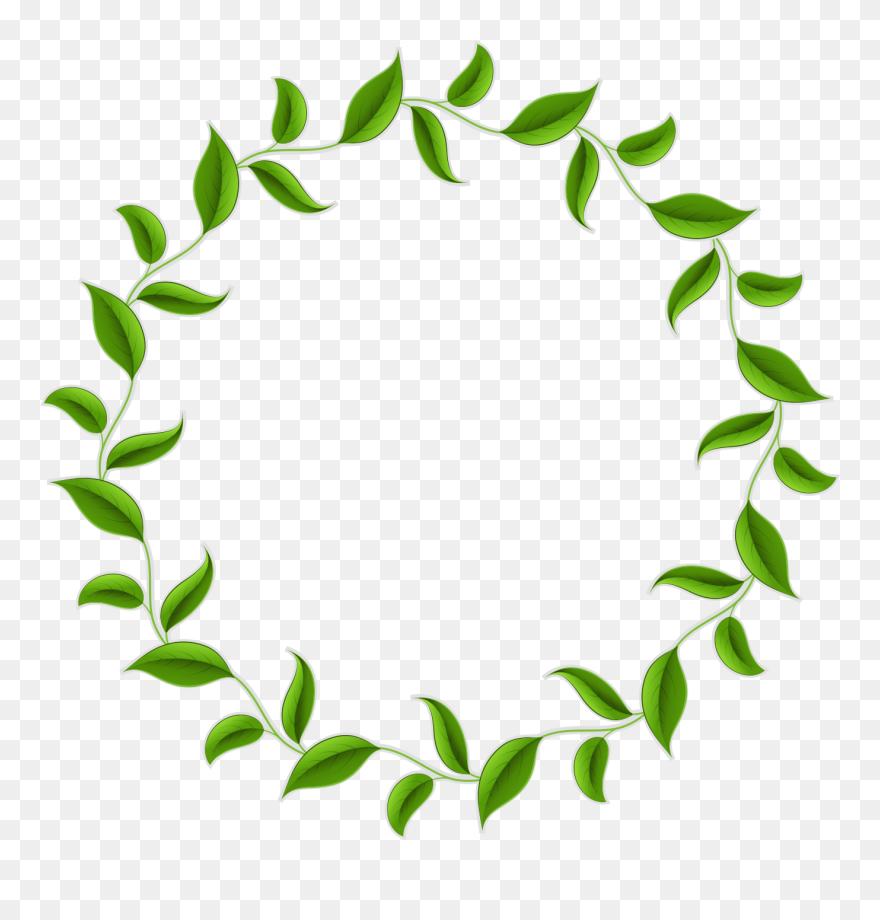 Leaf Tea Wreath Vector Green Circle Border Clipart Circle Leaf Border Png Transparent Png 5384422 Is A Creative Clip Art Borders Circle Borders Tea Wreath