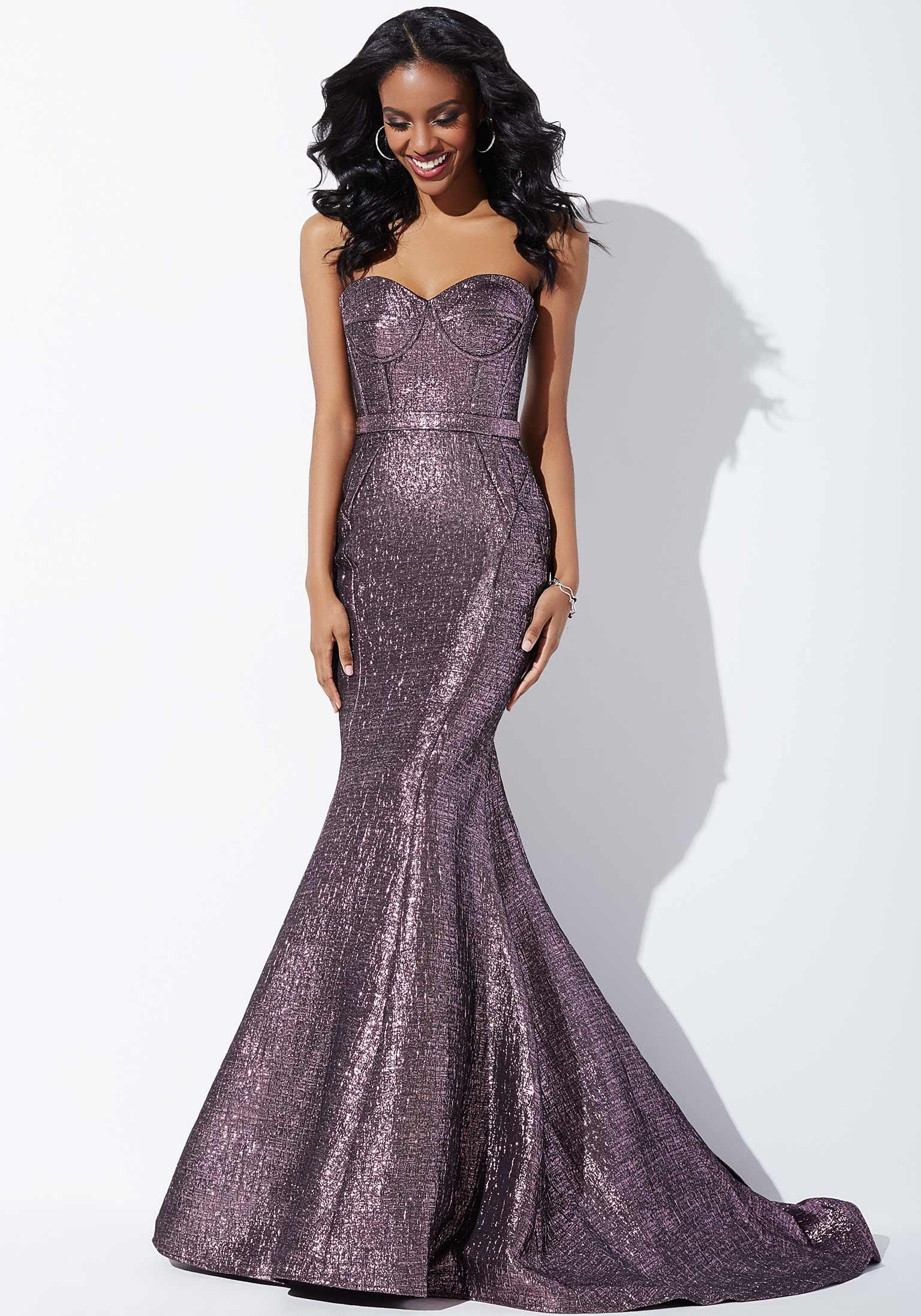 Silver Strapless Mermaid Prom Dress 32735 Mermaid Prom Dresses Dresses Purple Prom Dress [ 2194 x 1536 Pixel ]