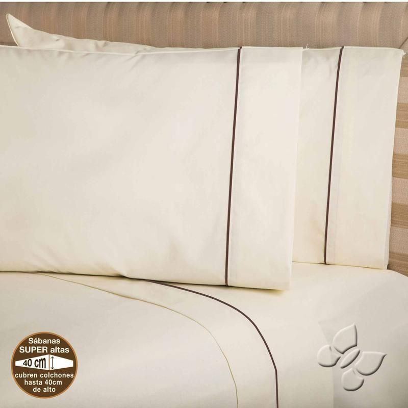 Elegance Beige Sheet Set (Full Size)