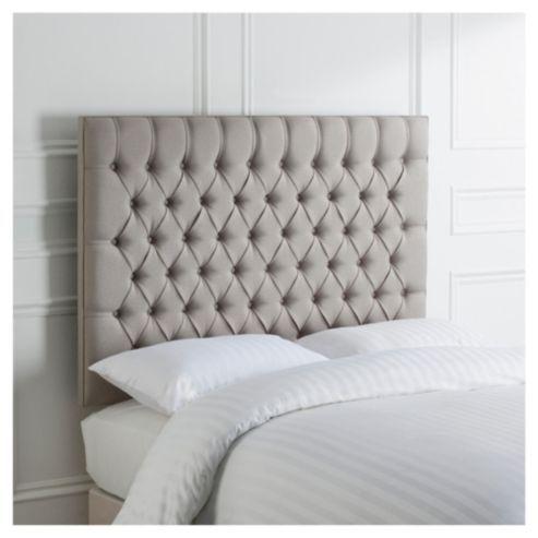 Henley Double Headboard Grey Linen