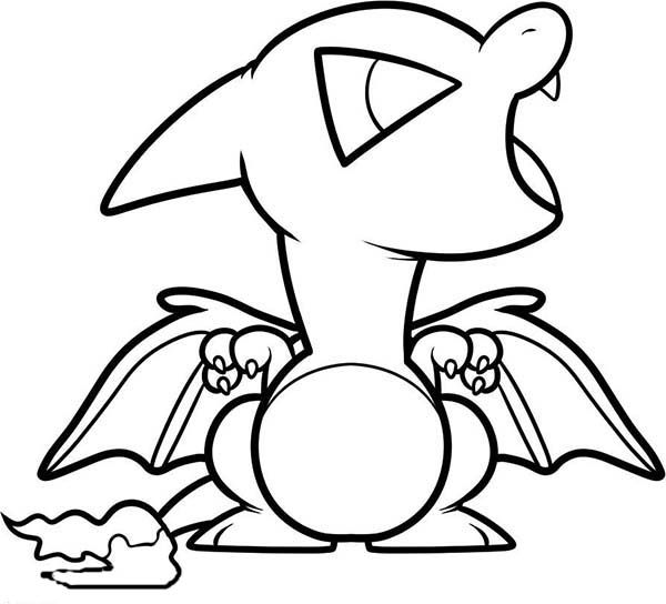 charizard coloring pages  here home charizard chibi