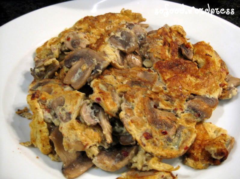 RecipeChinese Mushroom Omelette Mushroom omelette