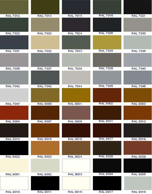 Ral   Ral  Color Chart Quotes  Ral Colours