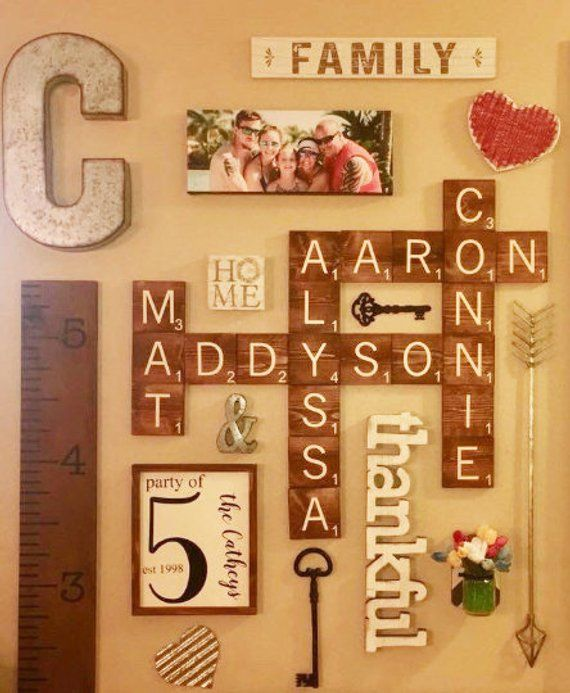 Unfinished Wood Scrabble Tiles Squares Wood Scrabble Etsy Scrabble Tile Wall Art Family Wall Decor Tile Wall Art