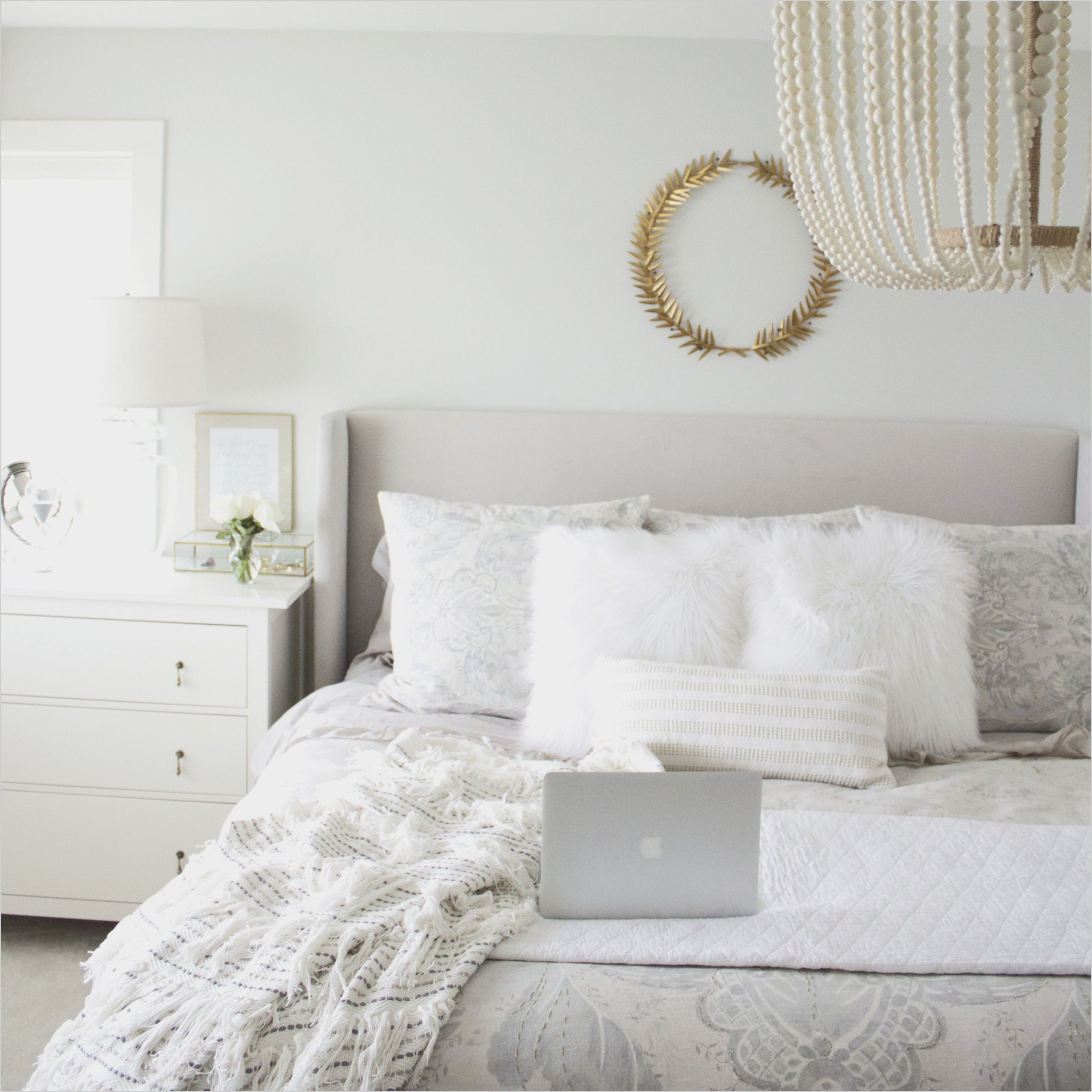 white and grey master bedroom ideas di 2020