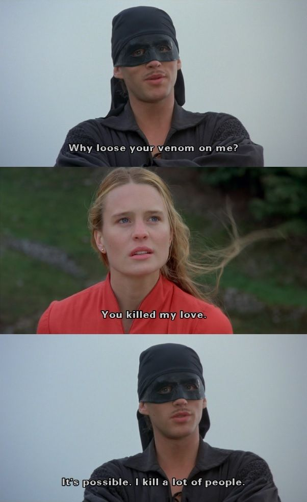 "Princess Bride Quotes You Killed My Love"" The Princess Bride  Movies And Such"