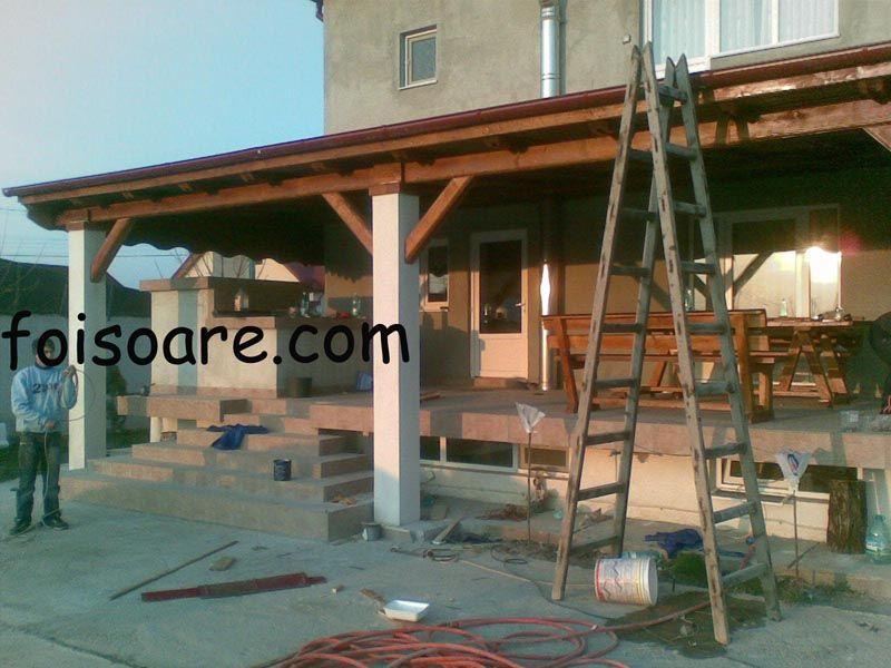 Mobila pentru bucataria terase din lemn poze for Modele de garduri pentru case