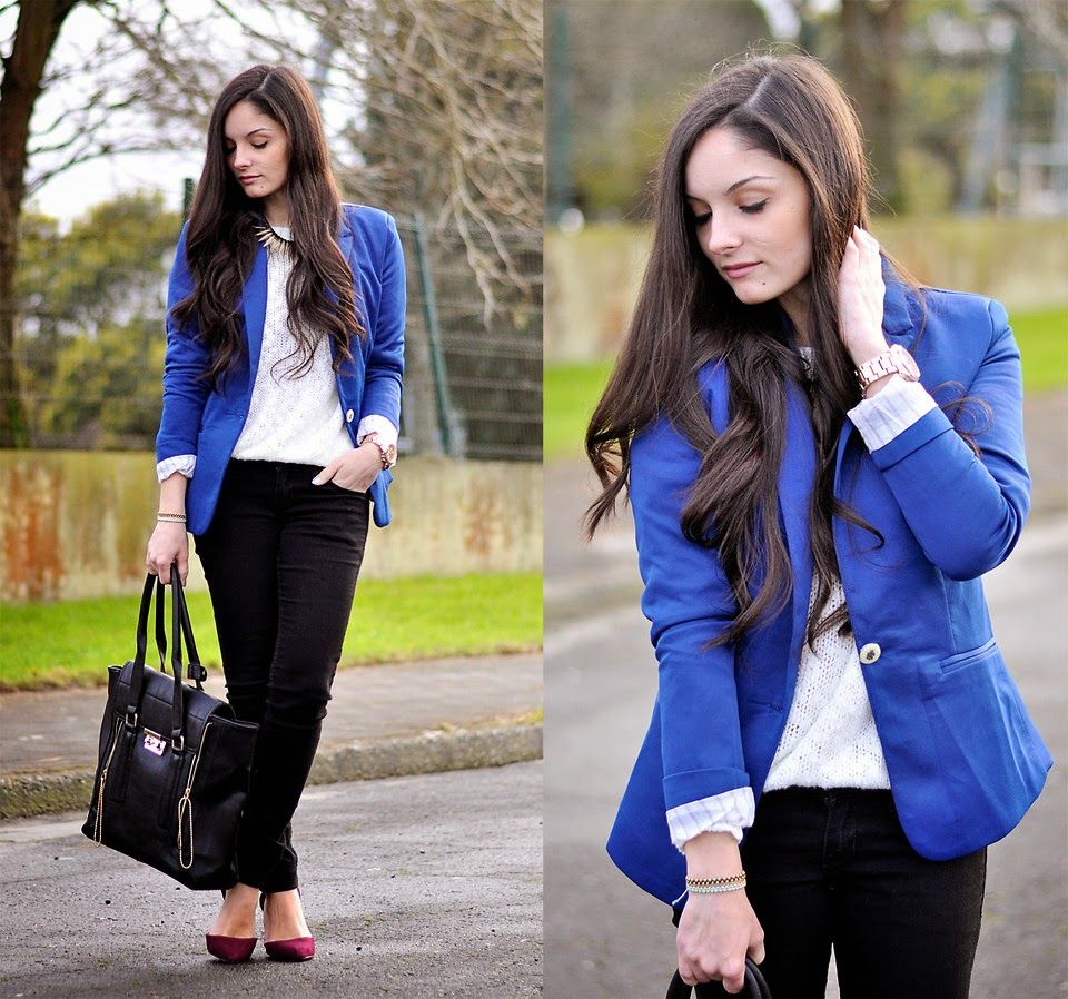 Coisas nada futéis: Blazer azul: seja ele royal, cobalto ou bic ...
