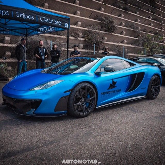 Hot Wrapped Mclaren Mp4 12c By Protectivefilmsolutions