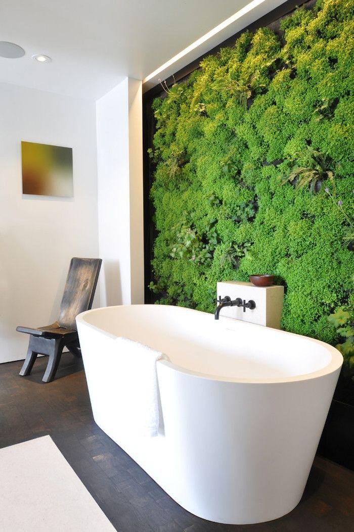 Feng Shui Badezimmer feng shui badezimmer freistehende ovale badewanne mooswand