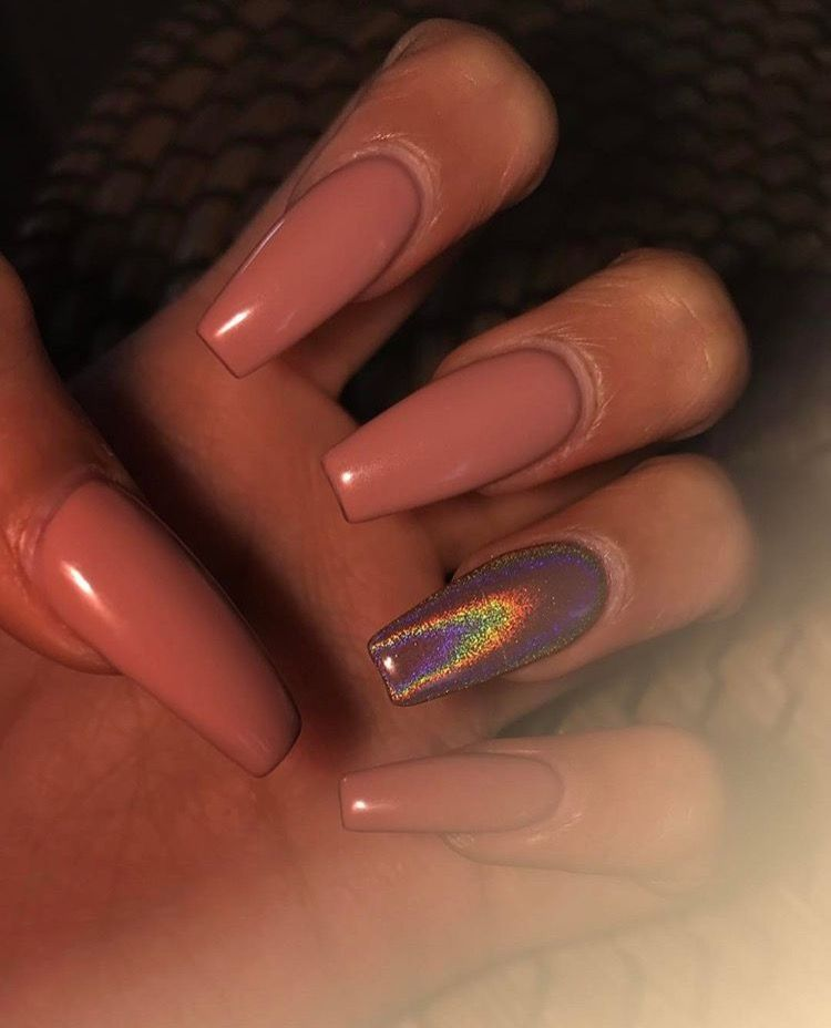 Mauve pink and Iridescent nails | nails | Pinterest | Manicura ...