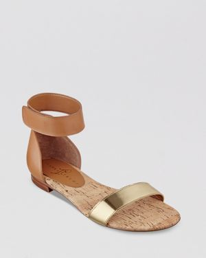 Ivanka Trump Flat Open Toe Ankle Strap Sandals