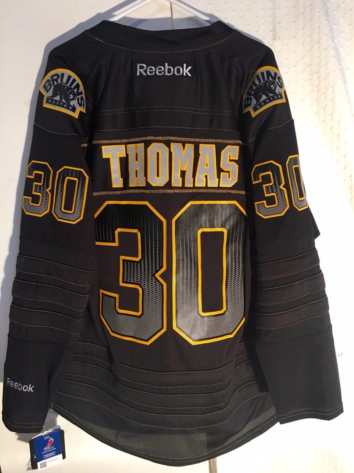 32a4c827b Reebok Premier NHL Jersey Boston Bruins Tim Thomas Black Accelerator