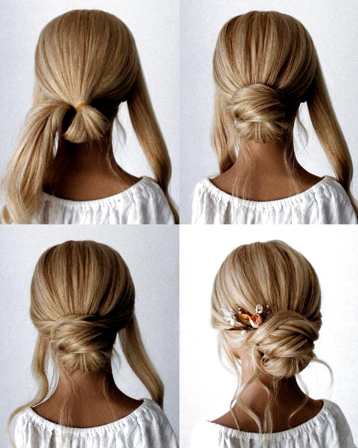 10 Einfache Schritt Fur Schritt Anleitung Fur Die Braut 2020 Hey Cinderella Hairstyles For Men Haartutorial Frisuren Einfach Abschluss Frisuren