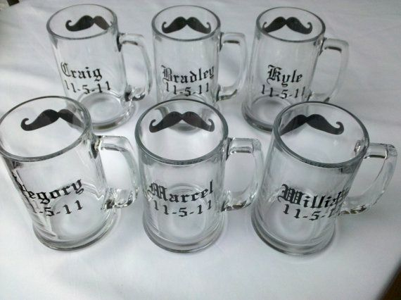 Custom listing for Stephhardy, 11 Chalkboard mustache mugs personalized with name and wedding date -$121.00