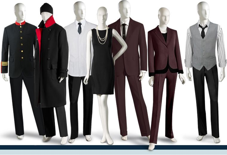 Custom made uniforms spa restaurant doorman resort casino for Spa uniform france