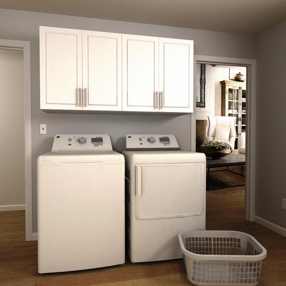 Modifi Madison 60 In W White Laundry Cabinet Kit Laundry Room