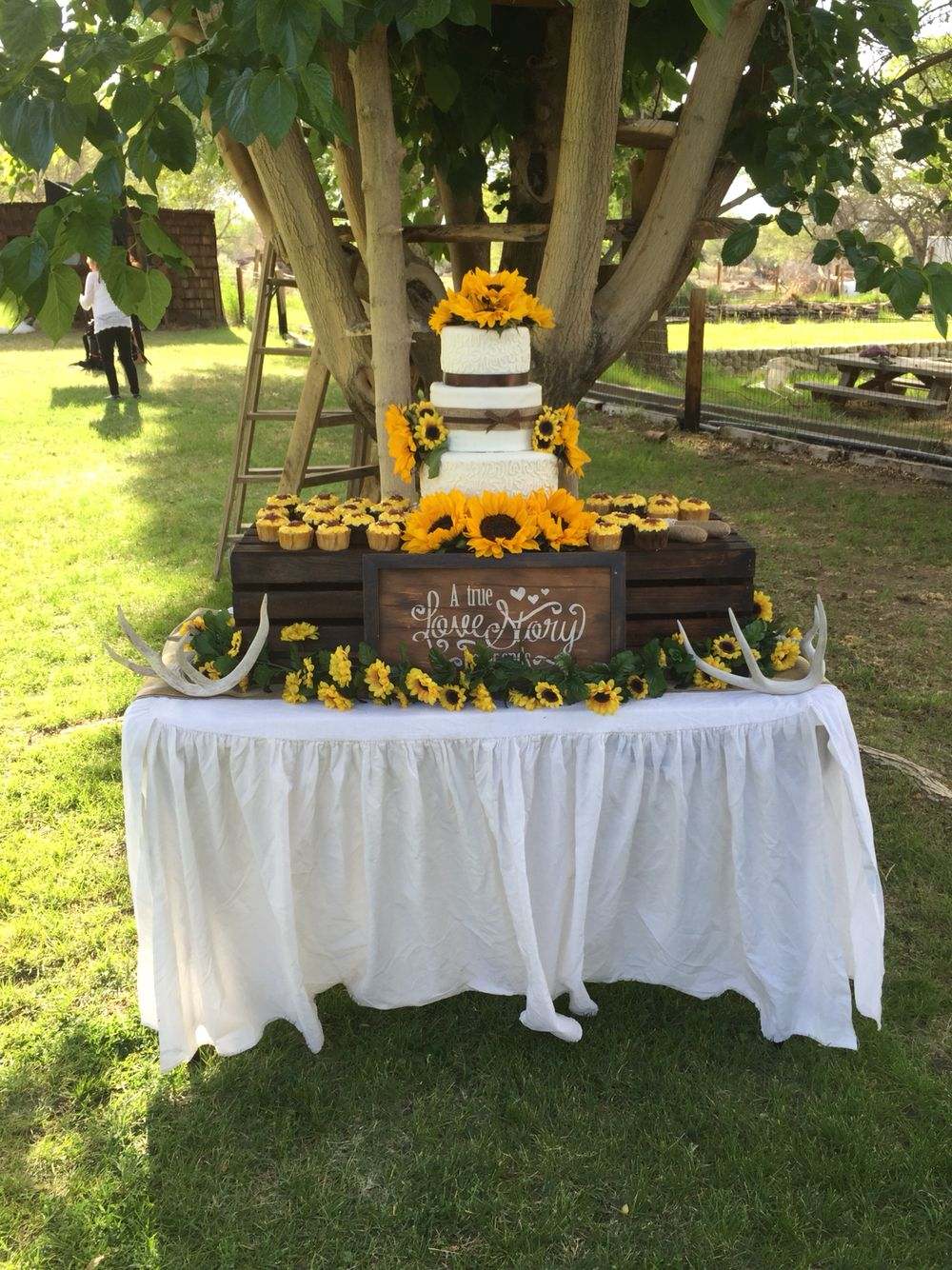 Rustic Sunflower Wedding Cake Sunflower wedding cake