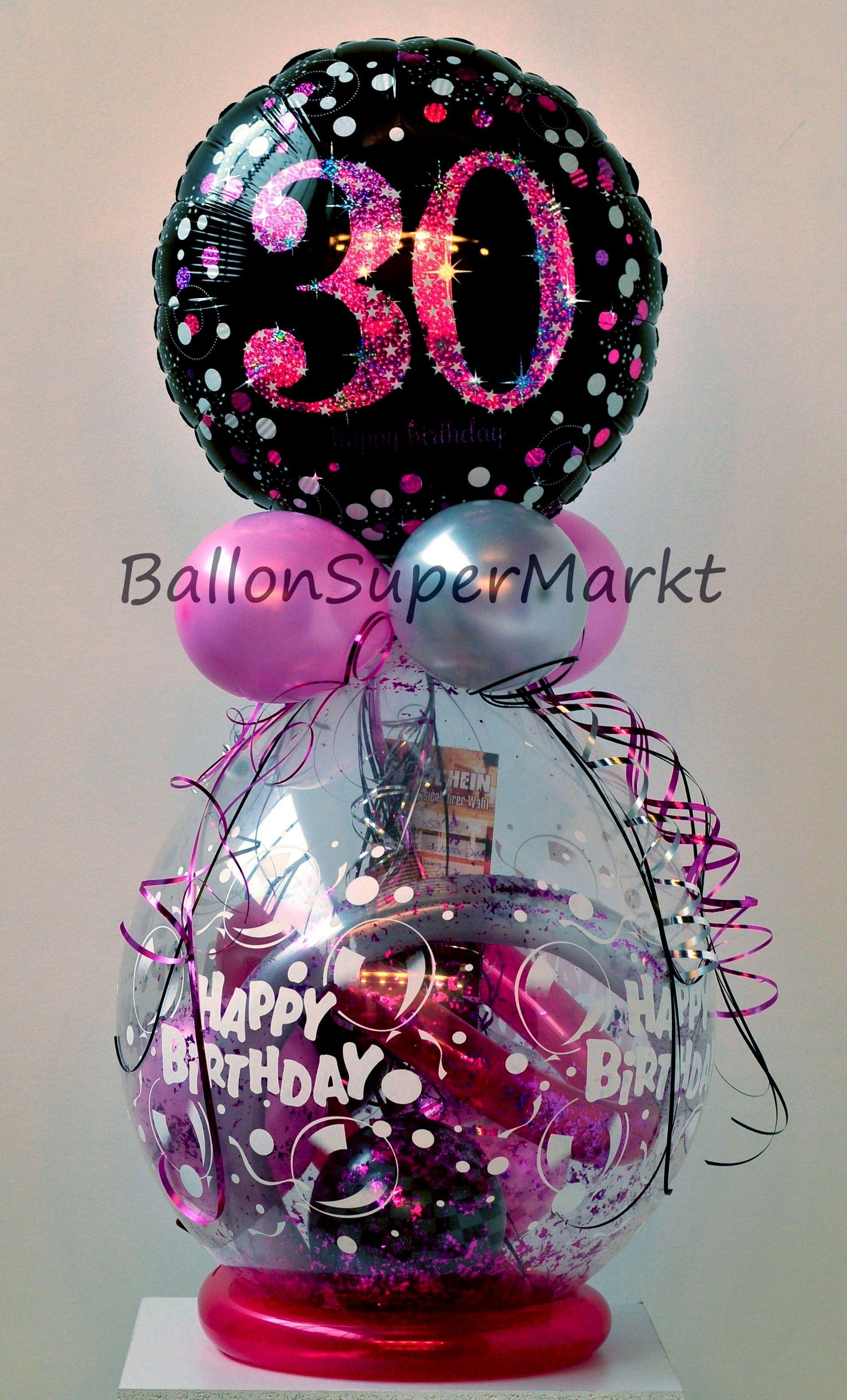 Anniversaire Geburtstag Geschenk Ballon Cadeau Pour 30e Zum