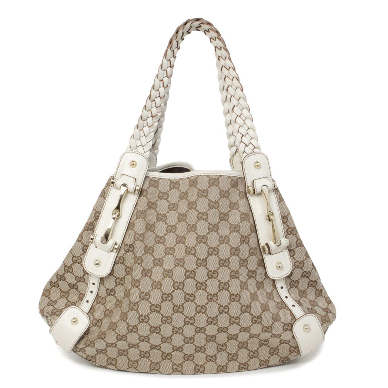 cde3770b4c3f13 Gucci Monogram Canvas Medium Pelham Shoulder Bag - modaselle | Gucci ...
