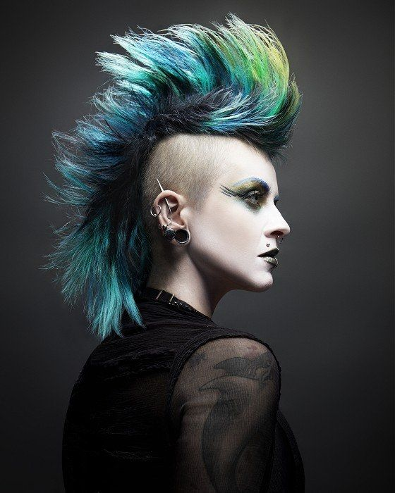 Tremendous Girl Mohawk Hairstyles Trends And Ideas Deathrock Deathhawk Short Hairstyles For Black Women Fulllsitofus