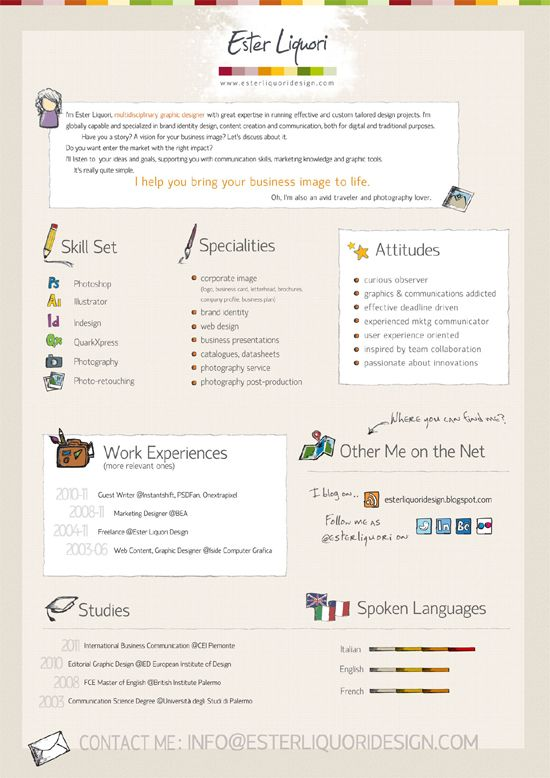 Ester-Liquori-Design-Visual-Resume More Infographics - visual designer resume