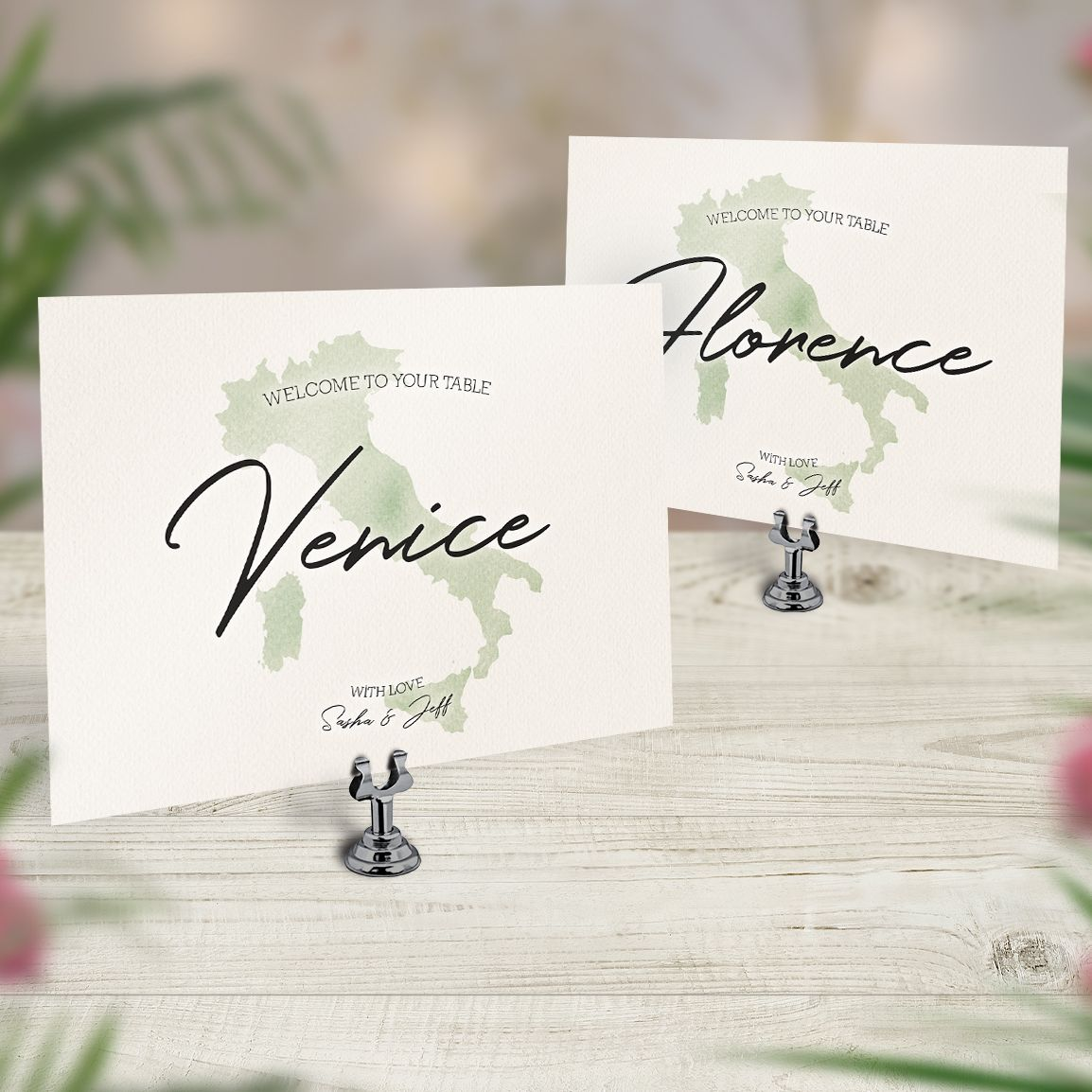 Travel Theme Location Wedding Table Names