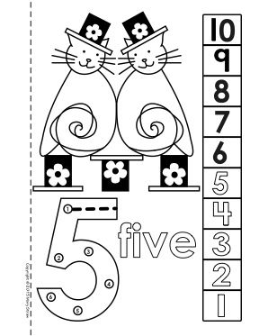 Dot-to-Dot Number Book 1-10 Activity Coloring Pages (With