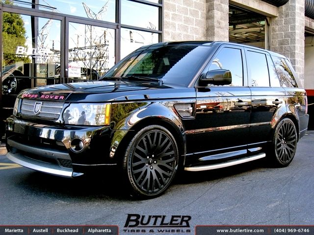 Land Rover Range Rover With 22in Marinello Kensington Wheels Exclusively From Butler Tires And Wheels In Atlanta Ga Image Land Rover Range Rover Kensington