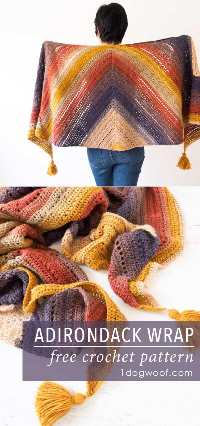 5 Stunning Diy Crochet Shawl & Wrap Patterns #crochetscarves