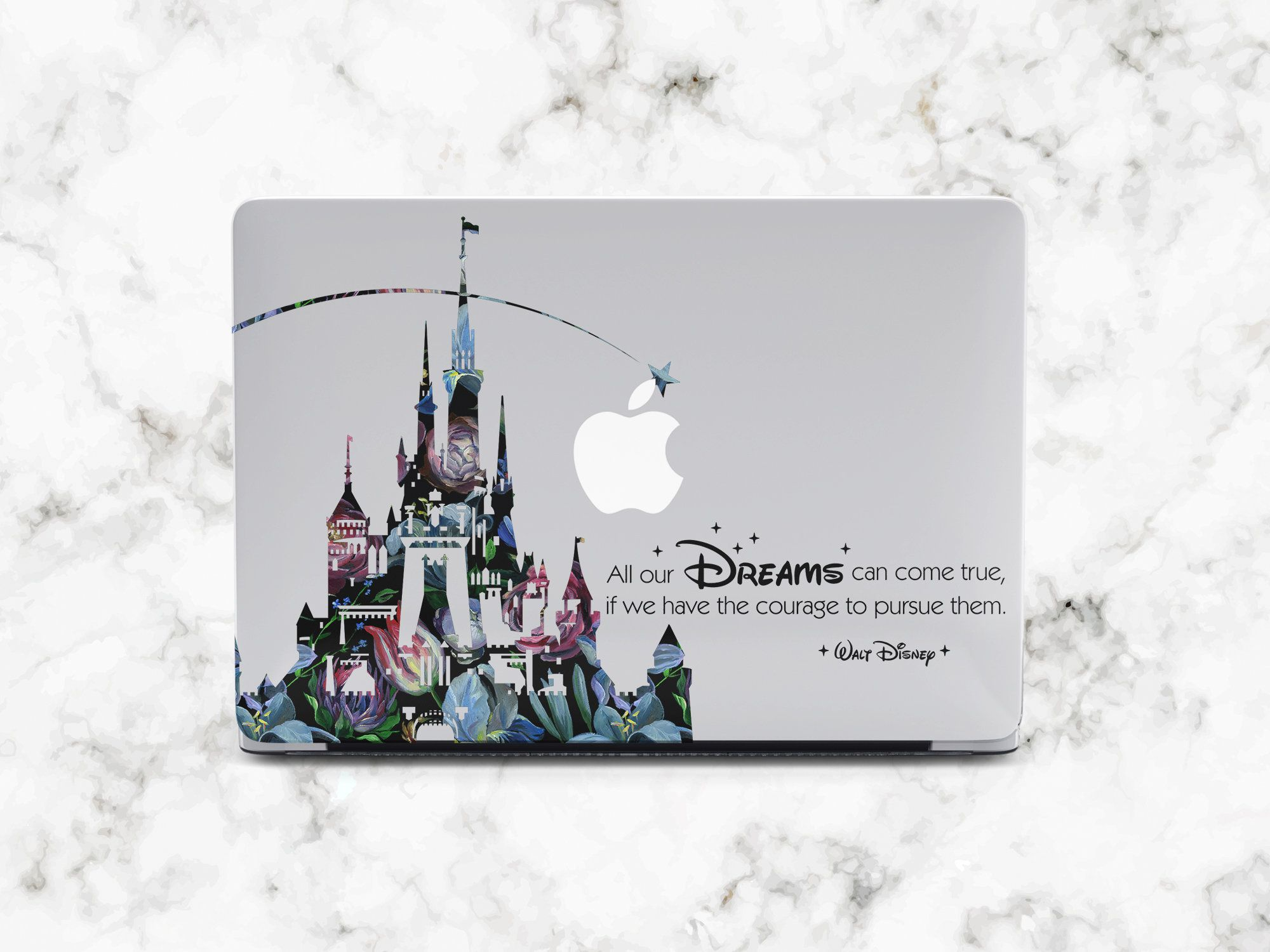 Macbook Floral case Macbook Pro 15 2018 Inspired by Disney