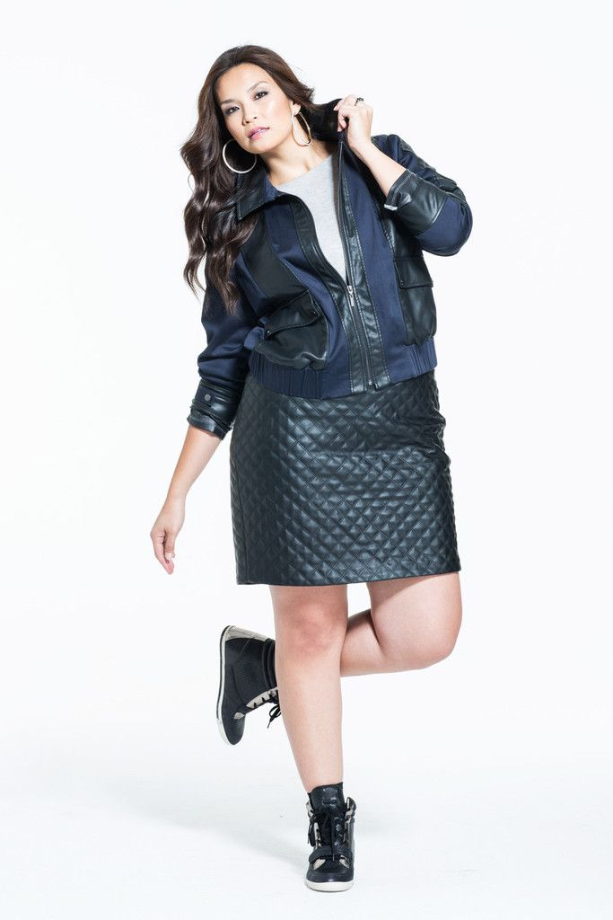 plus size leather skirt 15 #plus #plussize #curvy | Plus Size ...