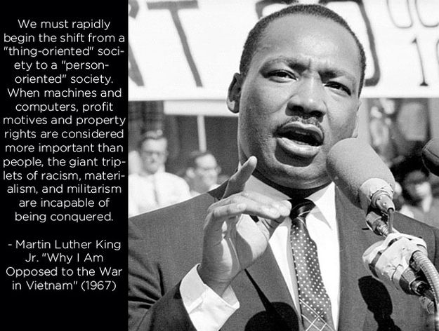 Резултат слика за martin luther king jr. after vietnam quotes machine computers