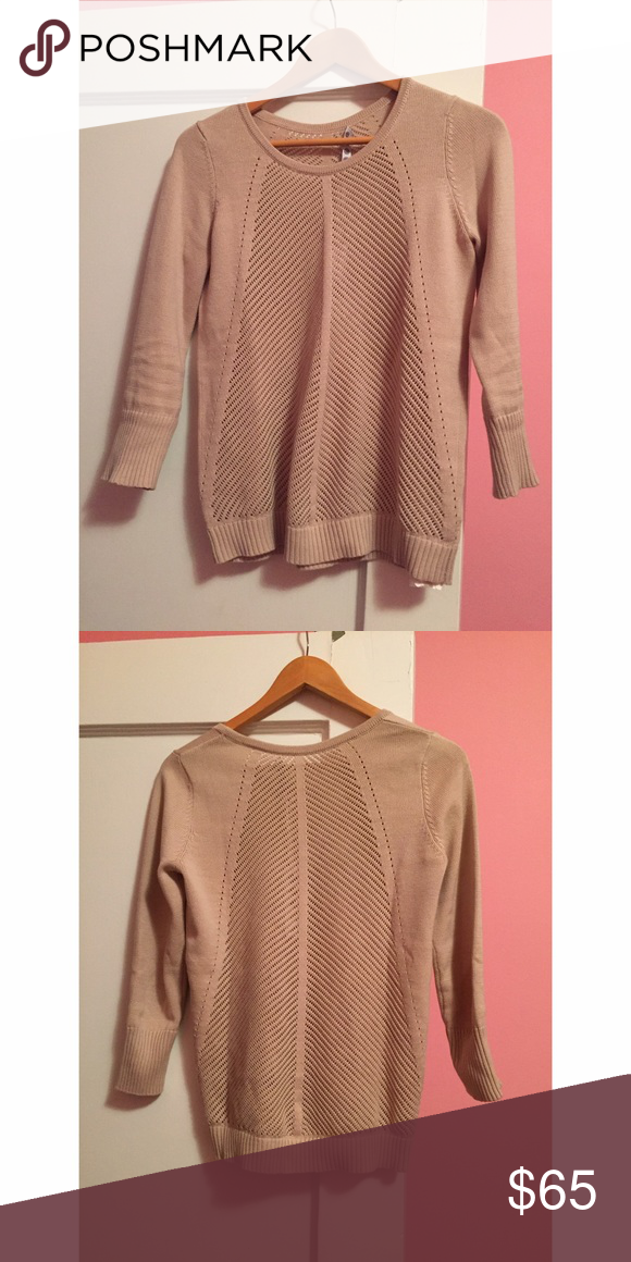 Kakon open stitch sweater Long sleeve stitched sweater in the middle Kakon Sweaters Crew & Scoop Necks