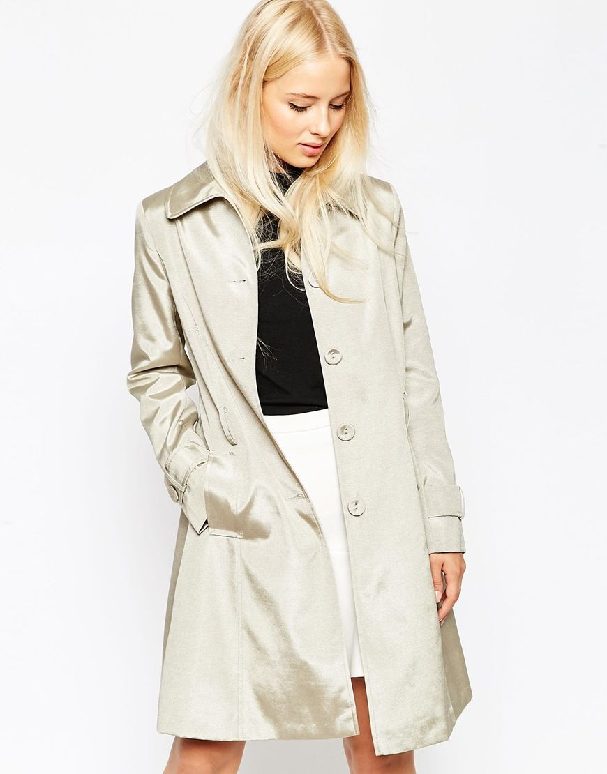 Helene+Berman+Taupe+Trench+Coat
