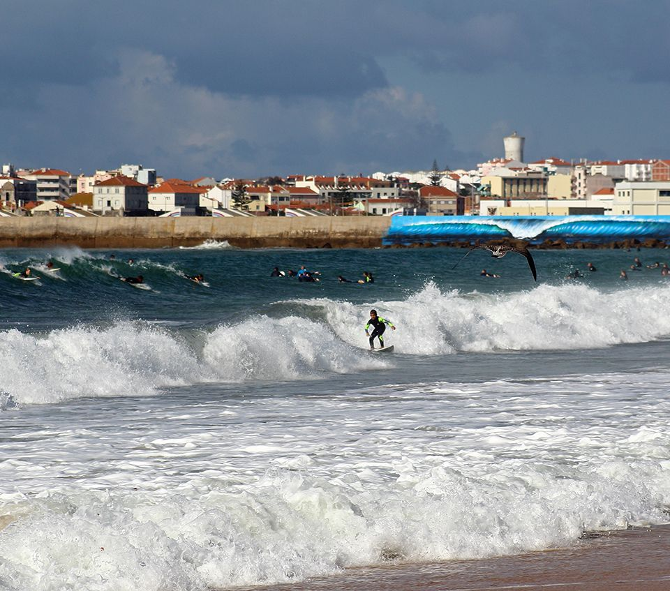 Plenty Of Waves For All In Peniche Wanna Surf And Travel In Portugal Ride With Us At Ride351 Com Surf Trip Surfing World Surf