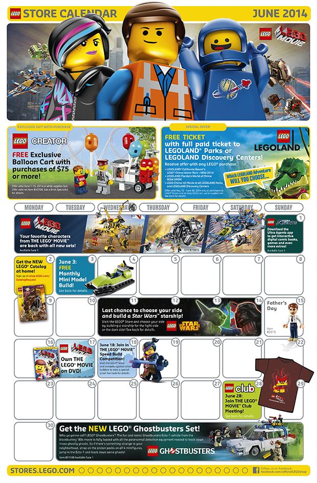 Lego Calendar June 2014. Mini Build June 3, 2014. #lego #kids ...