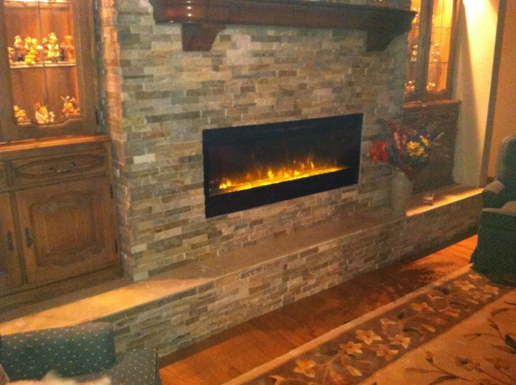 Dimplex electric fireplace with glass, built in with light slate. Almost  there, now - Dimplex Electric Fireplace With Glass, Built In With Light Slate