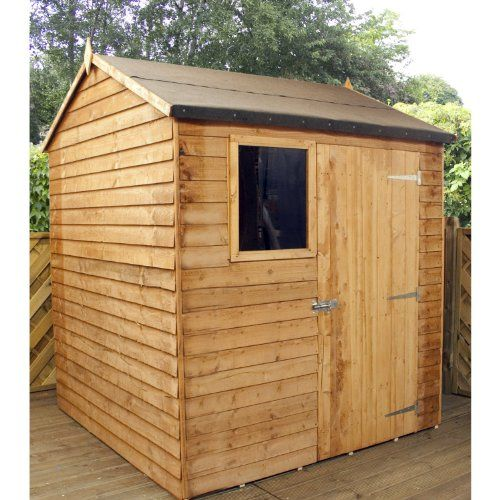 6 x 6 overlap reverse apex shed garden shed storage wooden store from