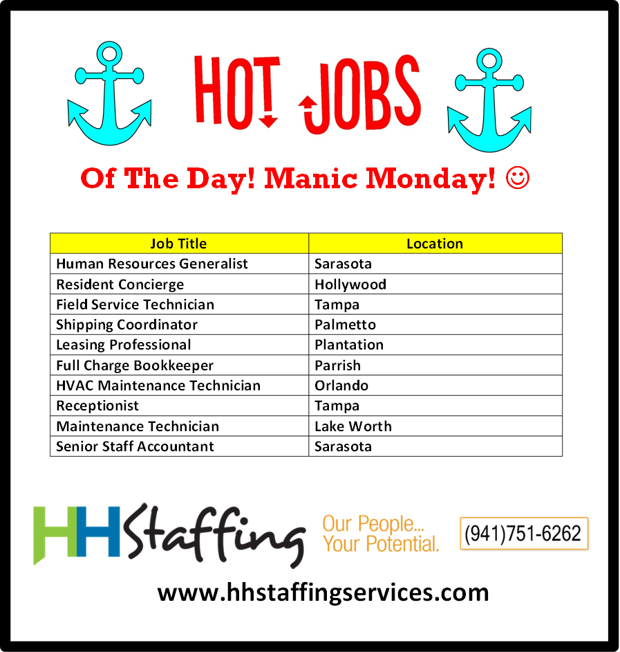 Did You Have A Manic Monday We Kind Of Did But Boy Did The Day Fly By Are You Looking For A Job We Can Help Check Out The Event Management
