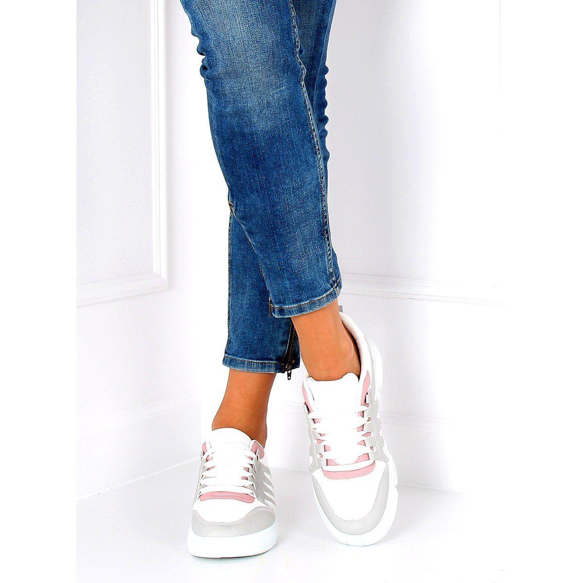 Buty Sportowe Bialo Szare Bl150p Grey Biale Women Shoes Shoes Sport Shoes