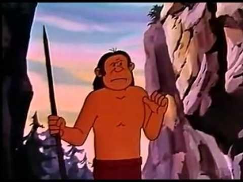Luomo primitivo: cartone animato progetto scuola video storia 3