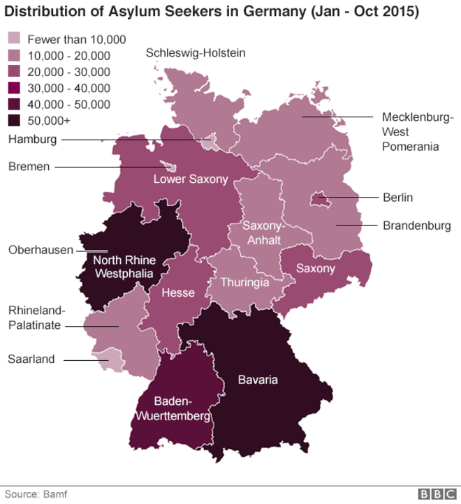 How One German City Is Coping With Refugees Ap Human Geography - Germany population map 2015