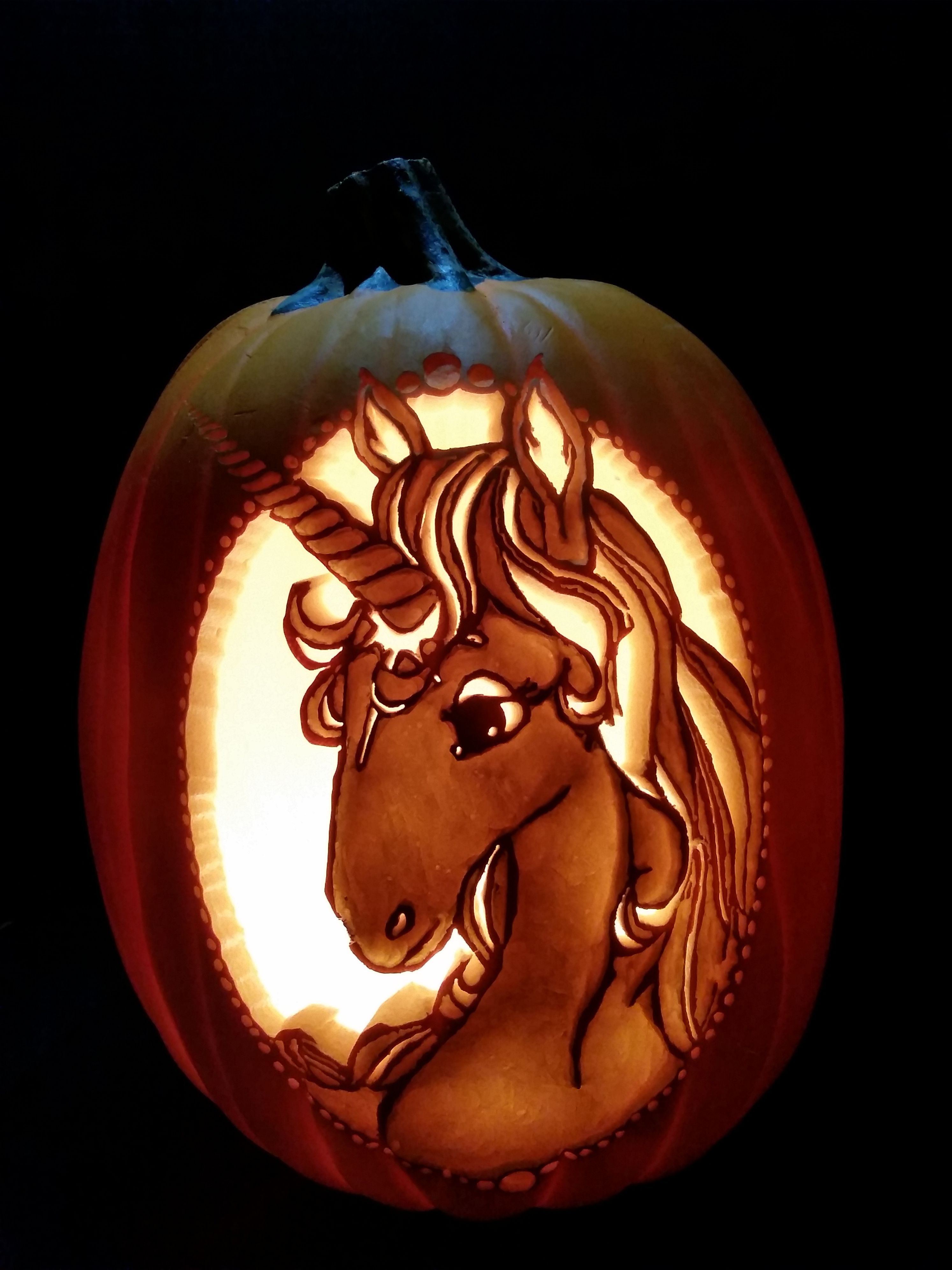 The Last Unicorn  Carved By Christie Speich  Pattern By