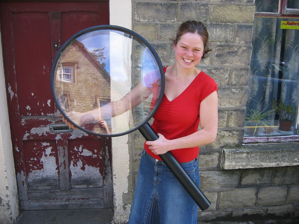 Giant magnifying glass | Work parties in 2019 | Magnifying