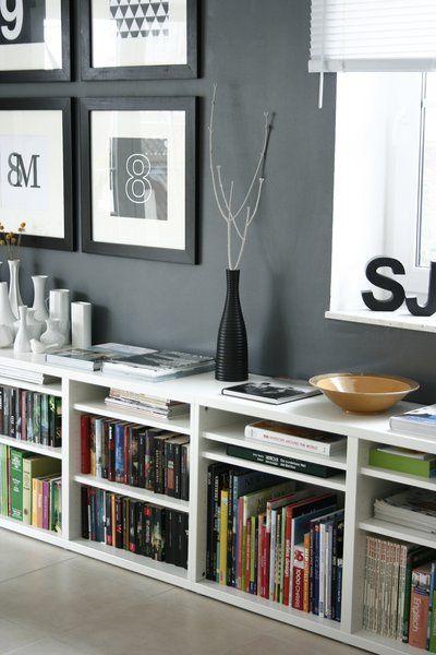 schwarz-weiß, bunt Pinterest Librerías, Mueble escritorio y - libreria diseo