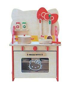 Hello Kitty Wooden Play Kitchen Set