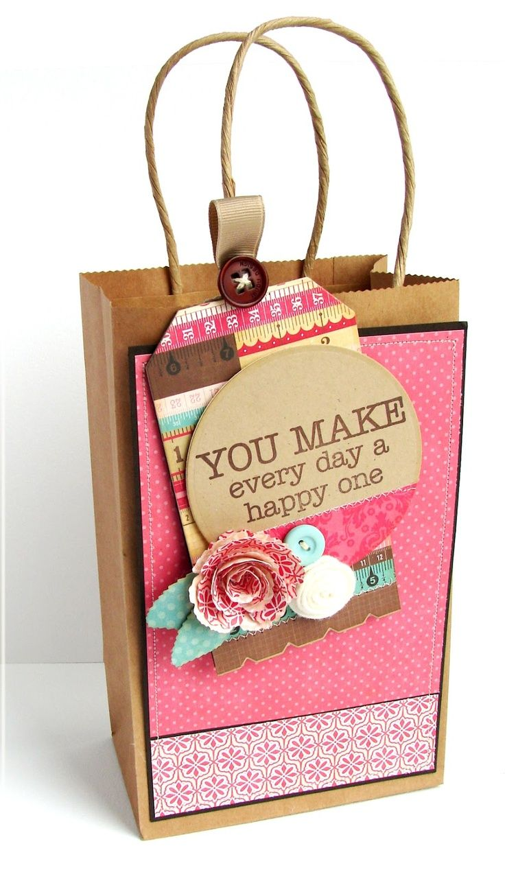 gift bag decorating idea | Decorated gift bags, Gift bags ...